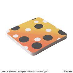 Dots On Blended OrangeToYellow Square Paper Coaster