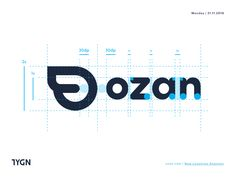 Ozan - New Logotype Anatomy designed by Taygun for ozan. Connect with them on Dribbble; Brand Identity Design, Graphic Design Branding, Logo Design, Clever Logo, Cool Logo, Typography Logo, Logo Branding, Property Logo, Logo Process