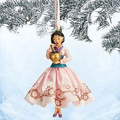 Disney Mulan Sketchbook Ornament | Disney StoreMulan Sketchbook Ornament - In her glittering satin gown, our elegant Mulan ornament is fit for an emperor's palace. Dress your holiday tree with this classic Disney dreamer.