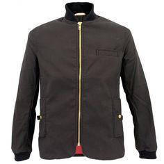 Oliver Spencer Lambeth Wax Black Jacket OSJ199A