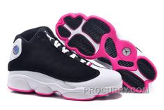 "new concept 6a0c1 4a374 2016 Girls Air Jordan 13 Retro ""Hyper Pink"" Black Hyper Pink-White For Sale  Online"