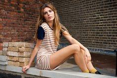 The perfect striped t-shirt dress via Wandering Minds