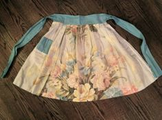 Rose Floral Apron Circa 1950 Very Nice by VelveteenGarden on Etsy, $32.00