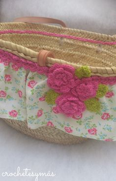 Capazo Fab Bag, Yarn Bombing, Cute Purses, Summer Bags, Knitting Yarn, Basket Weaving, Purses And Handbags, Fashion Bags, Straw Bag