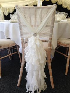 Ruffle Chair Sashes Suzani Fabric 8 Best Hoods Images Wedding Chairs Tables Ivory Chiffon Hood At Greenwoods Hotel And Spa Set Up By Ellis