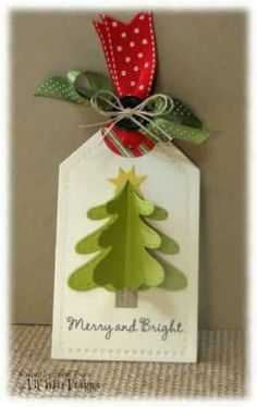 22 Awesome DIY Christmas Gift Tags For The Gift-Giving Holiday - Diy christmas gifts Creative Christmas Gifts, Christmas Gift Wrapping, Christmas Paper, Handmade Christmas, Christmas Crafts, Christmas Decorations, Christmas Holiday, Christmas Quotes, Christmas Ideas