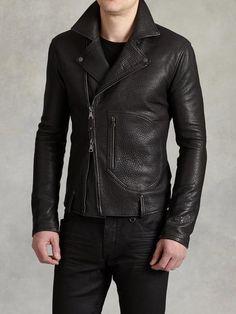$1,198, John Varvatos Leather Biker Jacket. Sold by John Varvatos. Click for more info: https://lookastic.com/men/shop_items/356511/redirect