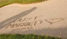 Sand trap. OMG I would die if the golf course did this for us!!!