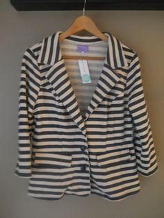 Market & Spruce Torin French Terry Blazer-have it in black and white