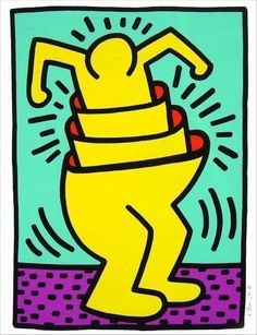 Untitled (cup man) / Keith Haring