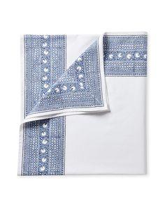 Palermo Block Print TableclothPalermo Block Print Tablecloth