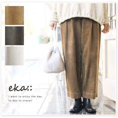 【eka eka:: エーカ】コーデュロイ ワイド パンツ (eka1720400)レディース ファッション 秋 冬