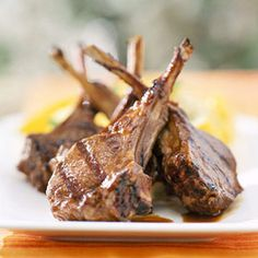 A quartet of orange juice, balsamic vinegar, honey, and soy sauce brings out the best in this easy grilled lamb main dish recipe.
