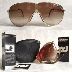 Tony Montana's Porsche 5622 Folding Vintage Sunglasses including Case & Booklets - New Old Stock