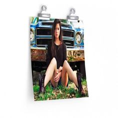 SEXY CHEVY GIRL Vertical Fine Art Prints (Posters)