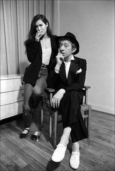 Serge Gainsbourg et Bambou pour la télévision française en mars 1982