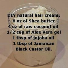 Natural hair cream