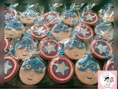 Napell Pasteleria: Cookies capitán América y Hombre Araña