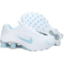 Nike Shox R4 312828 141 white sky blue flash