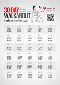 18 Awesome 30 day walking challenge images
