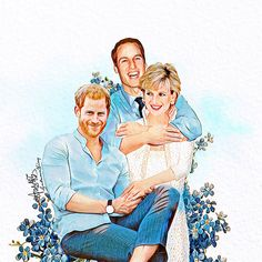 Incredible artist reimagines Princess Diana with her daughters-in-law Kate Middleton and Meghan Markle Prince William And Harry, William Kate, Prince Harry And Meghan, Prince Charles, Rhino 3d, Royal Princess, Princess Of Wales, Princess Diana Wedding, Caricatures