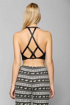 Shop Out From Under Nite Out Caged Bra Top at Urban Outfitters today. We carry all the latest styles, colors and brands for you to choose from right here. Pretty Bras, Backless Top, Diy Couture, Diy Fashion, School Fashion, Gothic Fashion, Dance Outfits, Caged Bra, Diy Clothes