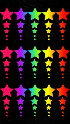By Artist gizzzi. Star Wallpaper, Love Wallpaper, Cellphone Wallpaper, Colorful Wallpaper, Iphone Wallpaper, Rainbow Images, Love Backgrounds, Star Images, Star Background