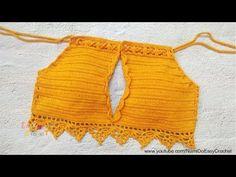 Crochet Patterns Blusas Easy Crochet for Summer: Crochet Halter Top Bikinis Crochet, Crochet Halter Tops, Crochet Crop Top, Crochet Bodycon Dresses, Black Crochet Dress, Crochet Baby, Knit Crochet, Crochet Summer, Chrochet