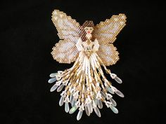 Sparkling White Angel by Beadwork by Sian, via Flickr