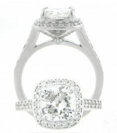 2.01ct. Cushion Diamond Engagement Ring