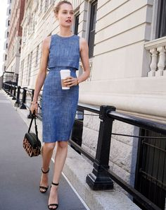 The J.Crew women's going-places dress. Whether it's the corner deli or the corner office.
