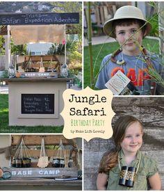 DIY Jungle Safari Birthday Party