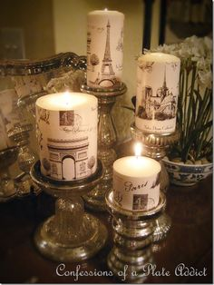 CONFESSIONS OF A PLATE ADDICT Paris Inspired Candles