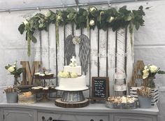 Vintage rustic First communion dessert table. www.chicpinkpetals.com