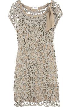Moschino Cheap & Chic silver circle knit dress