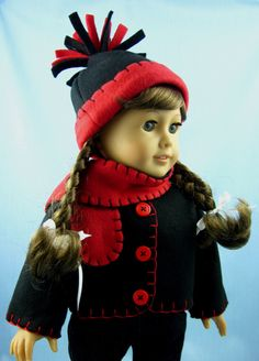 American Girl Doll Clothes   Fleece Jacket by SewMyGoodnessShop, $20.00