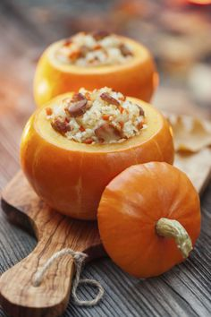 Stuff your pumpkins—and your guests—with this clever recipe that's as adorable as it is delicious.