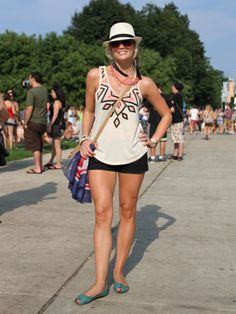 Great friend Megan on Marie Claire -Fashion at Lollapalooza