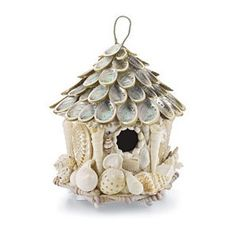 Looks like I will need to go on a vacation so that I can collect enough shells to make this birdhouse.