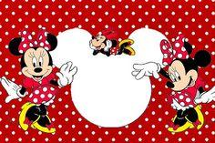 Minnie Mouse de rojo: invitaciones para iaaaaaaa