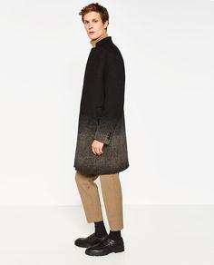 MANTEL MIT FARBVERLAUF Zara United States, Mantel, Normcore, Mens Fashion, Hottest Women, Men's Outerwear, Aw17, Outfits, Image