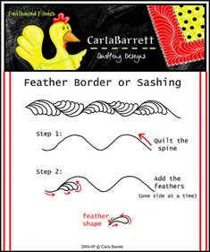 simple-feather-sashing-or-border | by Carla's Feathered Fibers