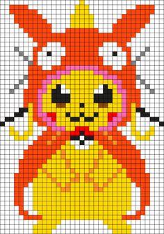 Large Magicarp Pikachu Perler Perler Bead Pattern / Bead Sprite