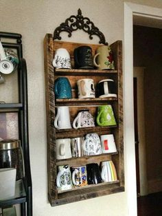 Coffee cup storage