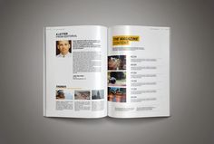 free magazine template