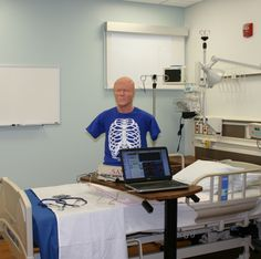 Inside the Allied Health facilities, with state of the art facilities, equipment and technology.