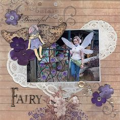 cuttlebug scrapbook layouts | Lavender Fairy Layout Advanced $30. For your fairytale friends, a ...