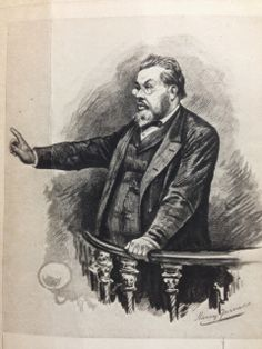 An etching of Charles Haddon Spurgeon