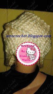 εϊз Art n Crochet εϊз: Gorro Turbante em Tunisiano