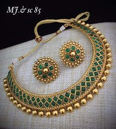 Indian Jewelry Bollywood Wedding Green Gold Plated Necklace Earrings Jewelry set in Jewelry & Watches, Fashion Jewelry, Jewelry Sets Indian Jewelry Sets, Indian Wedding Jewelry, India Jewelry, Gold Jewelry, Indian Gold Jewellery Design, Bridal Necklace Set, Bridal Jewelry Sets, Bridal Jewellery, Handmade Jewellery